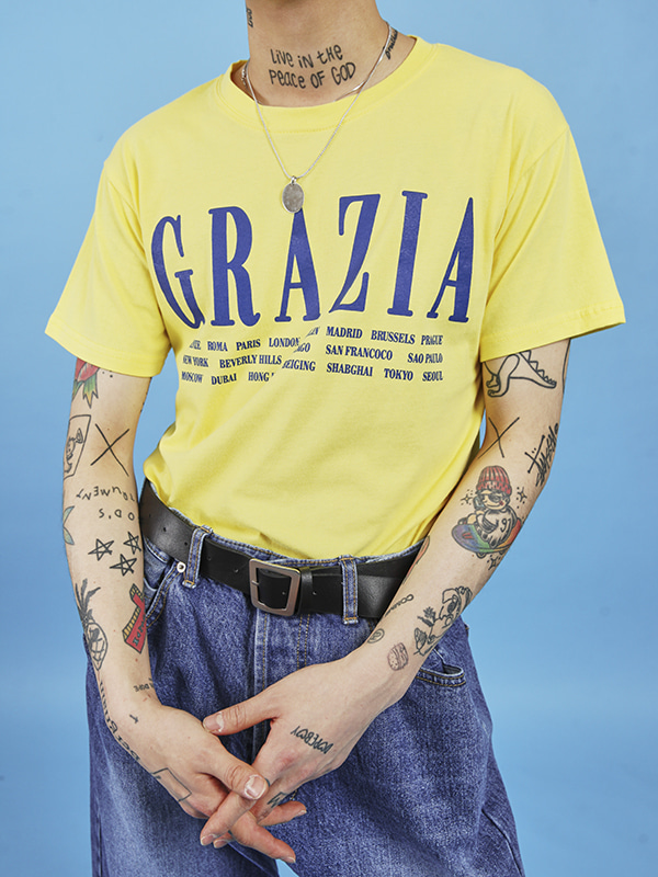 grazia 1/2 T (4 color) - UNISEX
