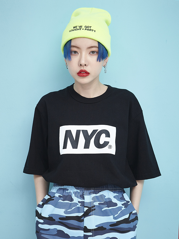 NYC 1/2 T (4 color) - UNISEX