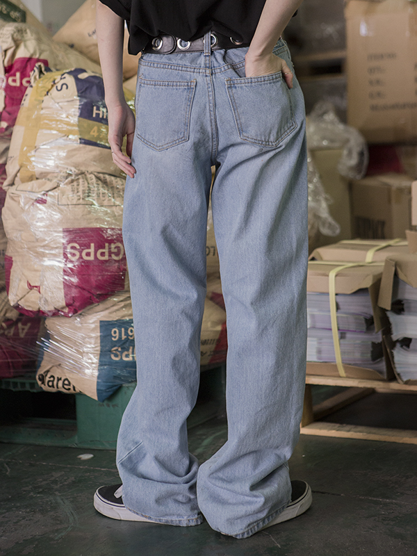 boy-fit denim pants