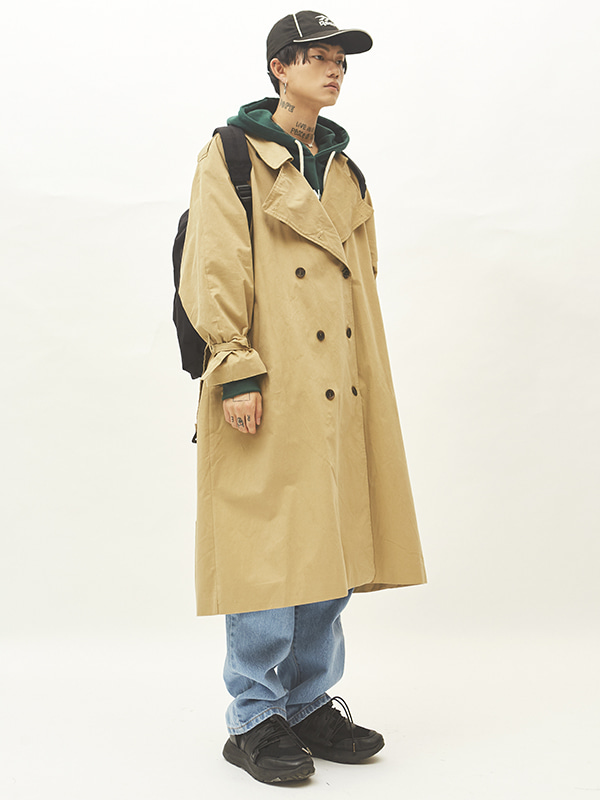 boxy trench coat (2 color) - UNISEX