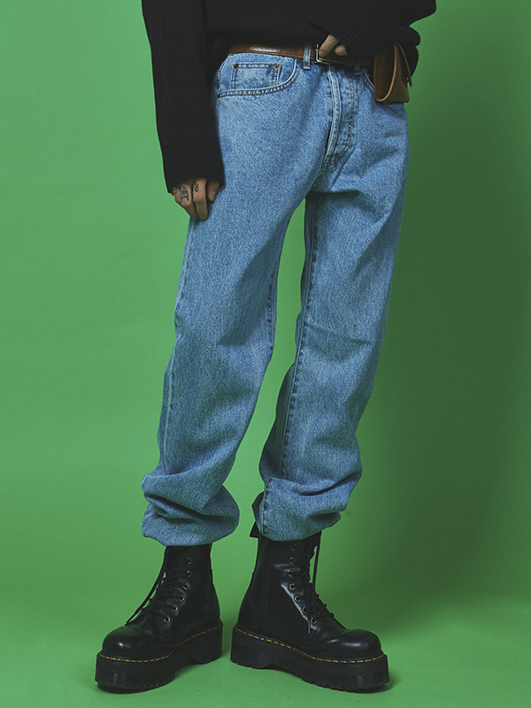 vintage washing denim pants  (2 color) - UNISEX