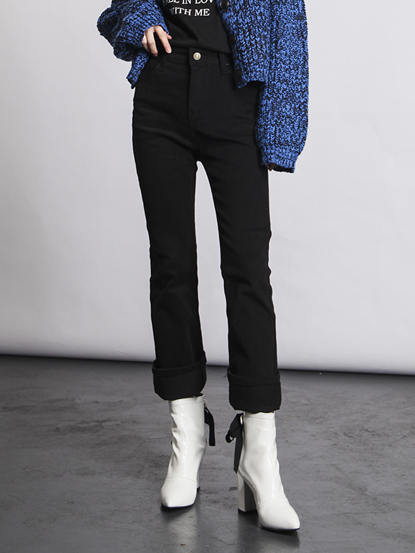 semi boots-cut pants (3 color)