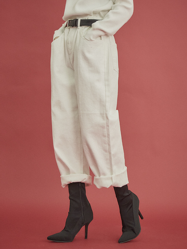 wide cotton pants (2 color)