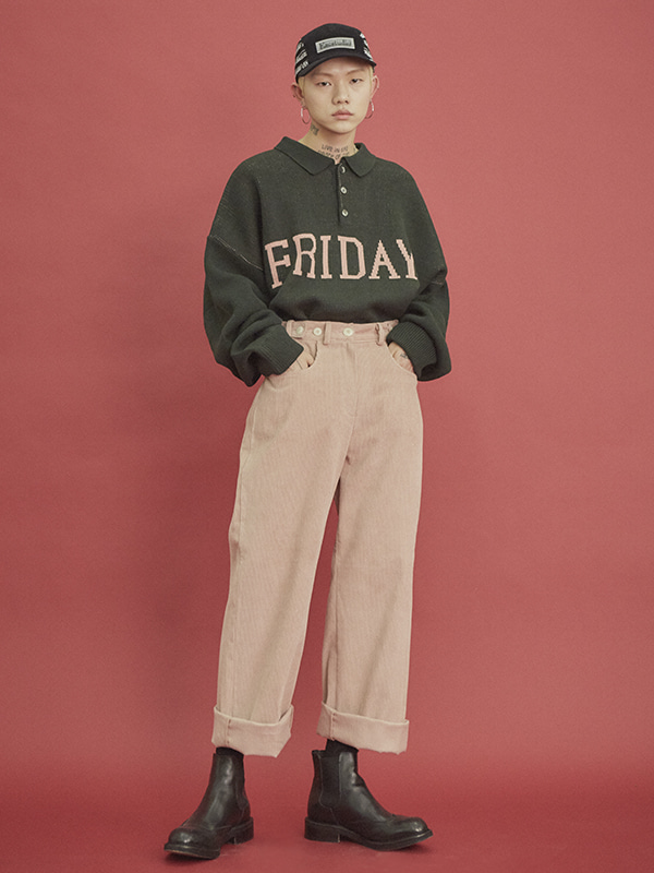 corduroy straight pants (6 color) - UNISEX