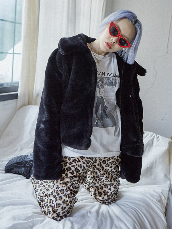 short fur jacket (2 color)