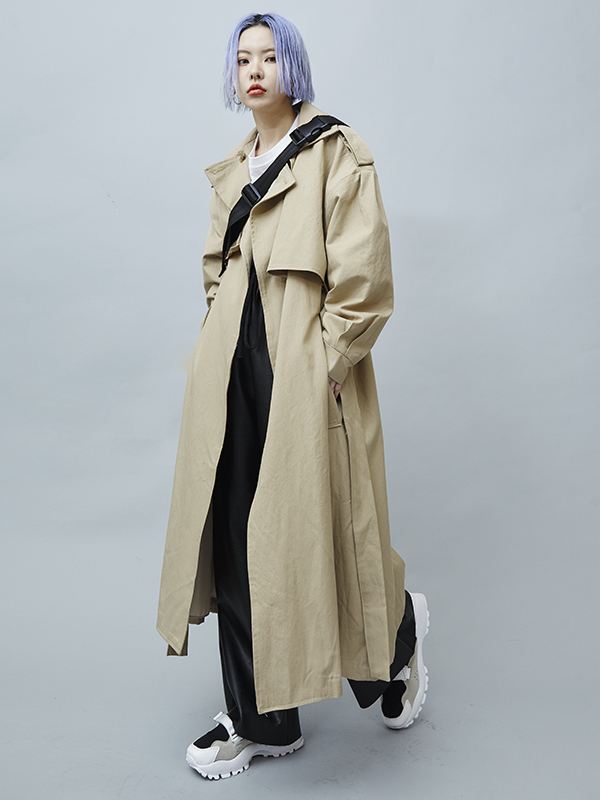 cape trench coat (2 color)