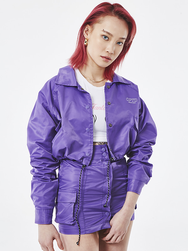 PROJECT -  UNSOCIAL COACH SKIRT (PURPLE)