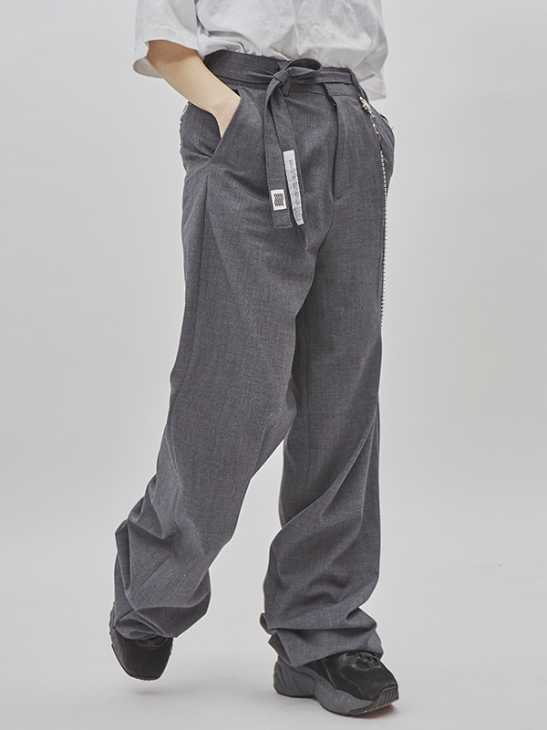strap wide pants (2 color) - UNISEX