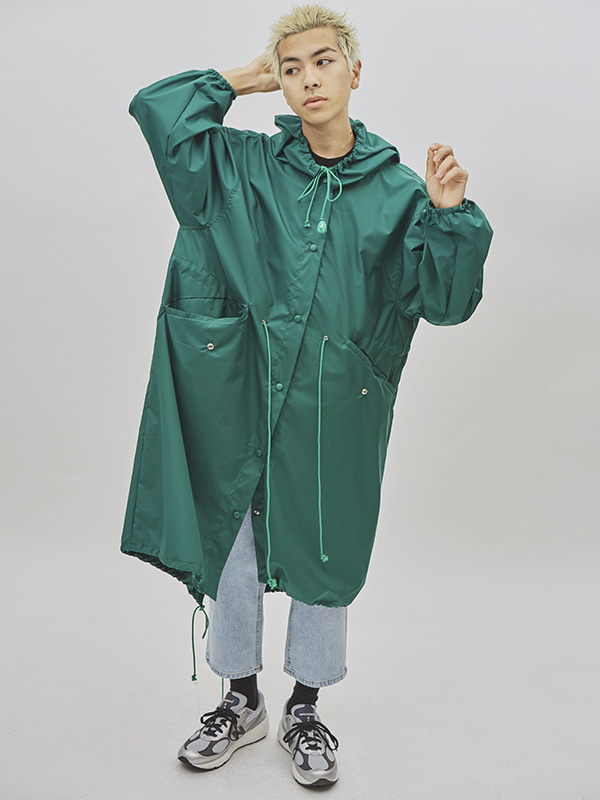 sleek rain coat (2 color) - UNISEX