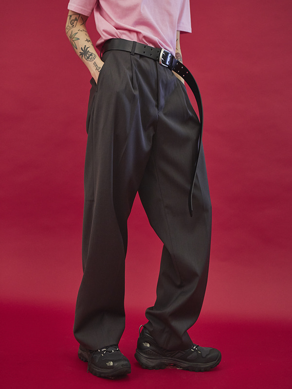 dart over wide slacks (3 color) - UNISEX