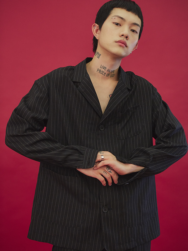 column stripe shirts (2 color) - UNISEX