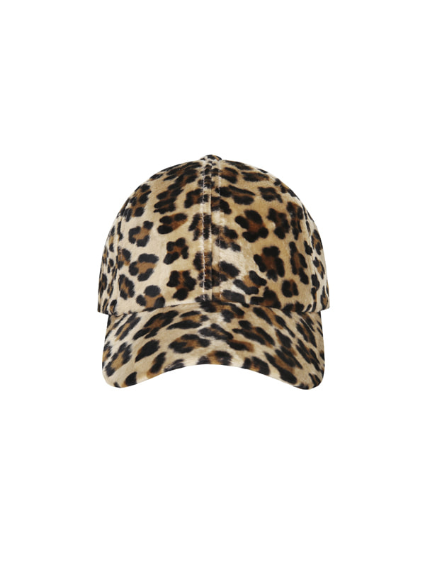 leopard ball cap
