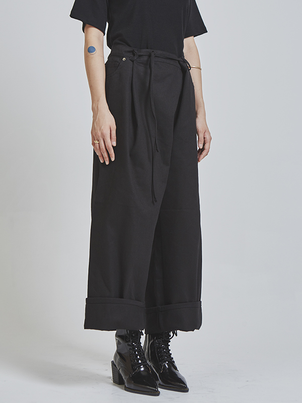 strap wide wrap pants (3 color)