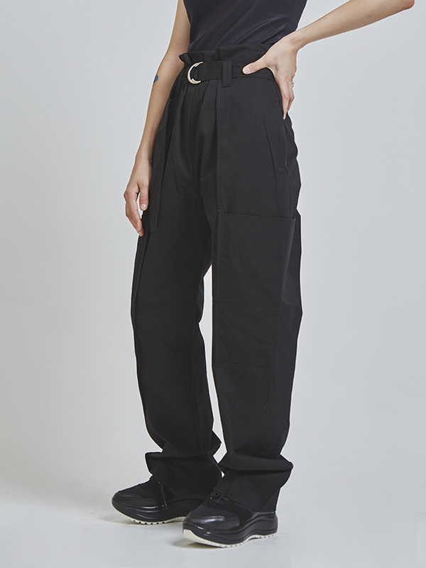 wide cargo long pants (3 color)