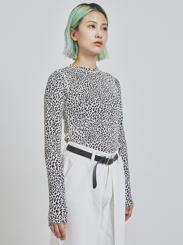 leopard slim T (2 color)