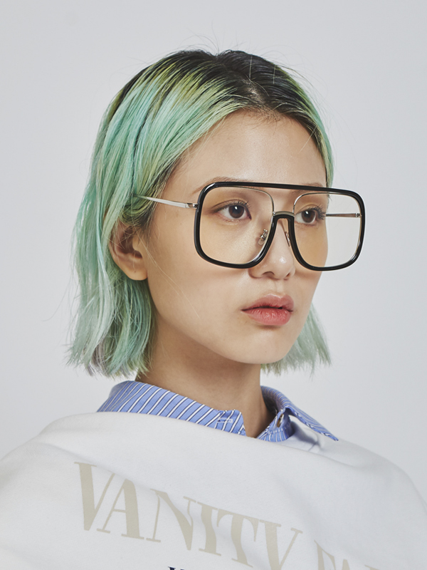 transparent aviator glasses (2 color)